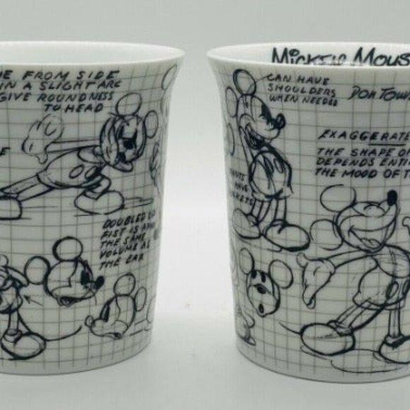 Mickey Mouse Set DISNEY Sketch Book Mugs